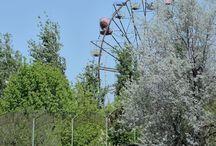 Travel, abandoned amusement park. / Travel, abandoned amusement park, Ukraine.