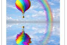 """""""gekleurd door de wind"""" / Windsurfers, kitesurfers, luchtballonnen enz. Gedreven door de wind in prachtige kleuren....."""