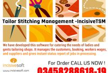 Incisive TSM (Tailor Stitching Management Software) / We have developed IncisiveTSM  for catering the needs of ladies and gents tailoring shops. Core Features: •Manage Customers data •Measurements •Booking •Management •Inventory Control •Suppliers •Accounts •Other Customizable Features as per your need For Further details CALL US NOW: +92 345 8288618-19 Or Email Us at: info@incisivesoft.com