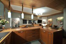 Кухня / Кухня в коричневых тонах