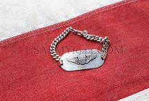 Oggetti Personali Americani ww2 / Oggetti personali come braccialetti, dog tags ecc... appartenuti a soldati americani durante il Secondo conflitto mondiale