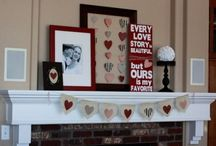 Mantel piece decor / by Brenda Kehoe