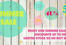 Summer Sale, Home Decor, Charts and Letters / Bonnie&Bell summer sale, up to 50% off