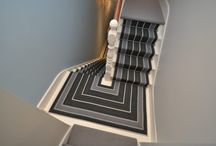 Off The Loom Stair Runner | Broomley 1 with Dallas Stair Rods