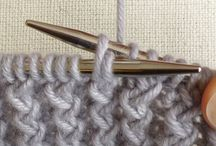 Knit and crochet stitches