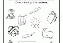 color word worksheets / by Nadia McAllister