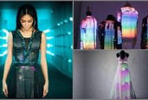 NICOLE SHERZINGER LOVES WEARABLE TECH AND SO DO WE! / We love wearable technology!  Take a look at these uber-chic dresses are made by London-based wearable technology company CuteCircuit.  Nicole Scherzinger wore a light-up Twitter dress that displayed tweets in real time at the launch of the 4G network in 2012.  It takes a certain kind of genius to create these garments! https://www.simplelighting.co.uk/