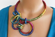 textile necklaces