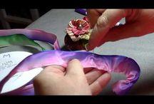 цветы из купонной ткани
