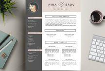 CV / Resume / CV design, modernes et originaux