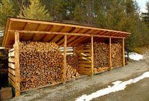 Cabana de arrumação de lenha