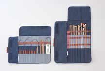 bolsa para agujas de crochet