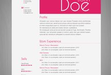 Draft - CV Designs / Draft of CV, Resume, Things can used to explain about ourself Design.