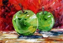 yağlıboya meyve