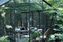 Inspiration - office in the greenhouse