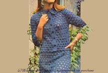 crochet suits / vintage crochet patterns for crochet lace suits