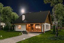 Domy małe i tanie / Projekty domów parterowych, z poddaszem użytkowym, z poddaszem do indywidualnej adaptacji małych i tanich w realizacji