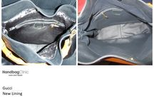 Gucci Handbags / Photos of stained, damaged, torn, dirty and worn out Gucci handbags and purses that we have lovingly cleaned and restored.