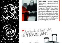 """Savebag by Spiessert / Une collaboration étonnante entre un artiste peintre-plasticien et un fabricant de babage, qui donne naissance à un nouveau concept de valise, du """"Travel Art"""""""