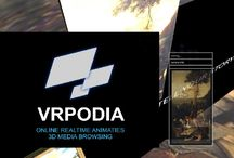 """VRPODIA / VRPODIA allows you to create stunning animated presentations, using your existing media files. Simply upload your files, add info and choose a template for your 3D presentation. VRPODIA then creates a 3D environment in which a visitor can """"fly"""" through and enjoy the tour.   you can.... create and organise multiple presentations online in a team shared environment re-use any part in multiple presentations, synchronising the parts across all presentations embed on any website"""