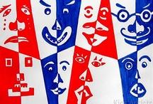Kuvis: Positiivi-negatiivi, Symmetria ja ornamentit