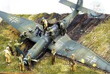 Diorama avion WWII