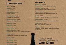 menus board