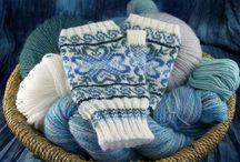 Norwegian traditional Selbu mittens