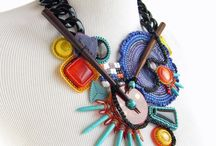 Fabric beads and jeweller ideas