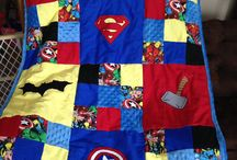 Syn's quilt / A super hero quilt for a little hero