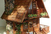 Mini ahşap evler ♡