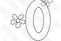 haft matematyczny - cyfry, litery