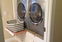 Laundry stations and closet