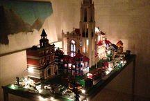 Lego kathedraal / Op dit bord zijn foto's te zien van een kathedraal van lego waar ik aan het bouwen ben.  Onderaan de foto's van bet begin stadium.