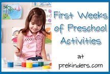 Preschool 1st week activities/printables