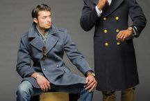 Military Style Overcoats / A Collage of Authentic Overcoats from European Militarizes spanning many decades !!!