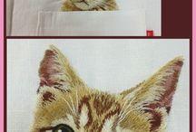 embroidery kitties