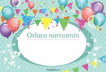 Pozvánky na narozeniny