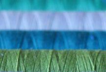 Trådrulle blå grön