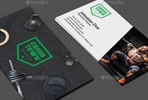 gym business card and emblems