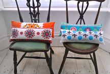 Lovely cushions / A room can be brightened simply by a sprinkling of cushions! Quirky, colourful cushion designs!