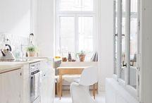 Schmale Küche small kitchen