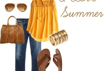 Summer Closet,Yellow or Brown  / So Want all of these fill it up my closet..please...lol Disclaimer: I am not the creator of these items. Just my wishie's / by Kim Boyette