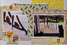 Design- Criss Cross / scrapbook pages featuring layouts with the Criss Cross design