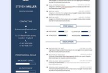 Creative Resume Template / Collection of remarkably smart resume templates Simple to Edit   Microsoft Word Ready   Creative Designs