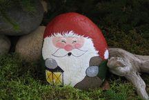 Papá Noel piedras