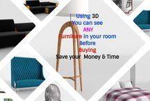 Buy Furniture-Muebles you can see Real furniture and in 3D+3D design / You can buy any real furniture item and as a present - we make with this Item 3D design of your space. So, step 1 -  You need to buy any furniture item And step 2  - you need to choose the style of your room Step 3 - see your NEW 3D Design More info at info@glancingeye.com