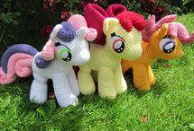 вязаные пони