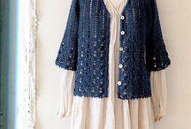 Crochet tops, cardigans etc