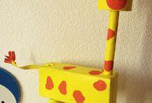 girafe avec boite mouchoir et pq
